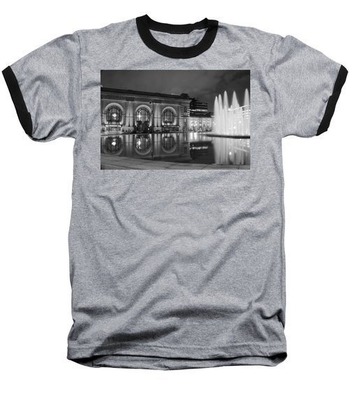 Union Station Reflections Baseball T-Shirt by Steven Bateson