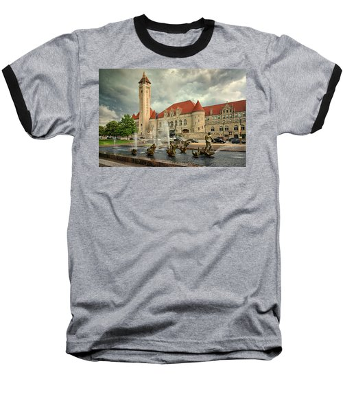 Union Station St Louis Color Dsc00422 Baseball T-Shirt by Greg Kluempers