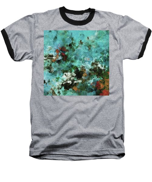 Unique Abstract Art / Landscape Painting Baseball T-Shirt by Ayse Deniz