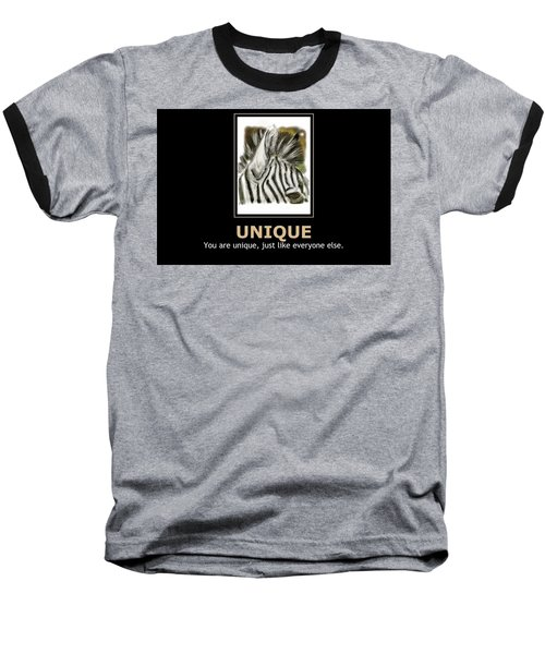 Unique Motivational Poster Baseball T-Shirt