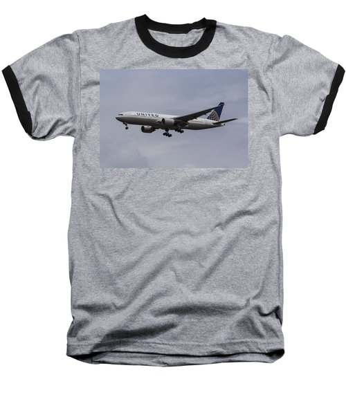 United Airlines Boeing 777 Baseball T-Shirt