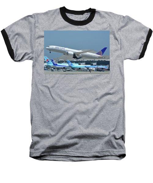 United Boeing 787-9 N27965 Los Angeles International Airport May 3 2016 Baseball T-Shirt