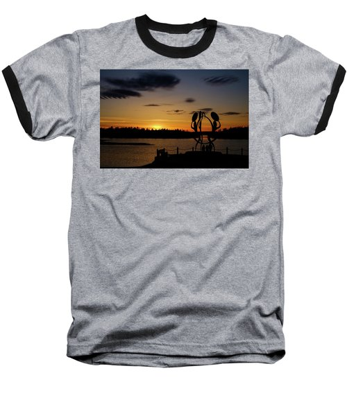 United In Celebration Sculpture At Sunset 6 Baseball T-Shirt