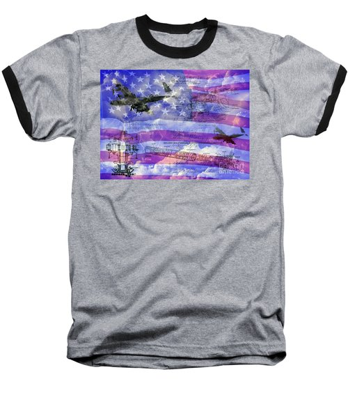 United States Armed Forces One Baseball T-Shirt