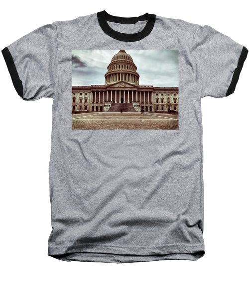 United States Capitol Building Baseball T-Shirt