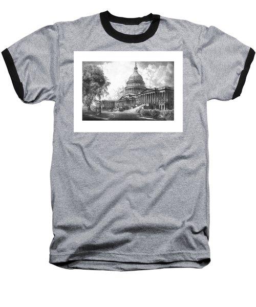 United States Capitol Building Baseball T-Shirt
