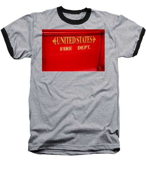 United States Fire Department Engine Baseball T-Shirt