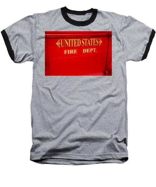 United States Fire Department Engine Baseball T-Shirt