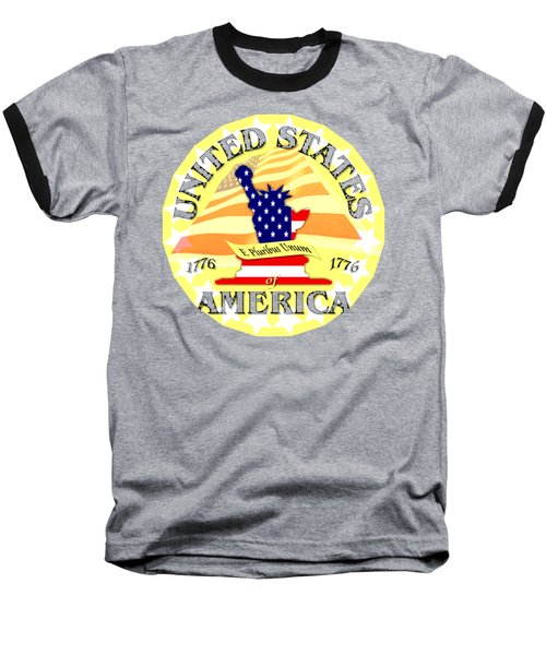 United States Of America Design Baseball T-Shirt