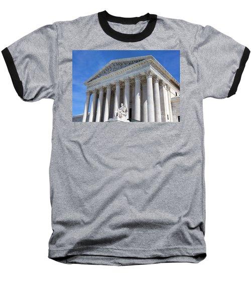United States Supreme Court Building Baseball T-Shirt