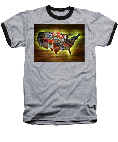United States Wall Art Baseball T-Shirt