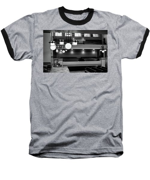 Unity Temple Interior Black And White Baseball T-Shirt