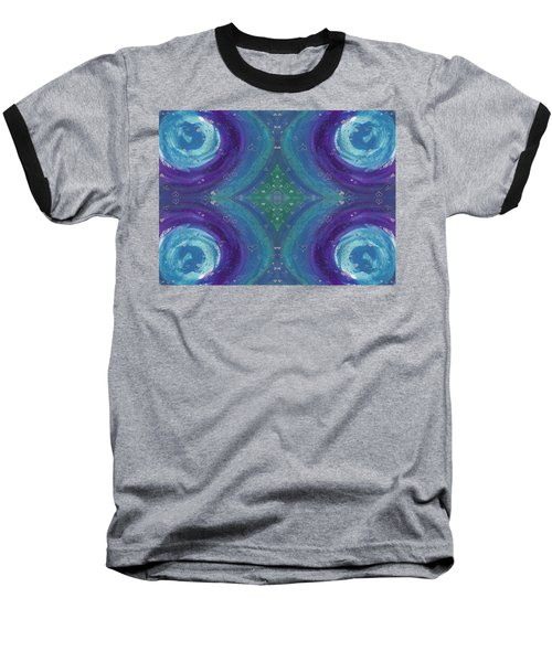 Universal Love Green Diamond Quad Baseball T-Shirt