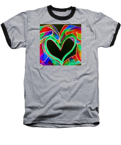 Universal Sign For Love Baseball T-Shirt by Eloise Schneider