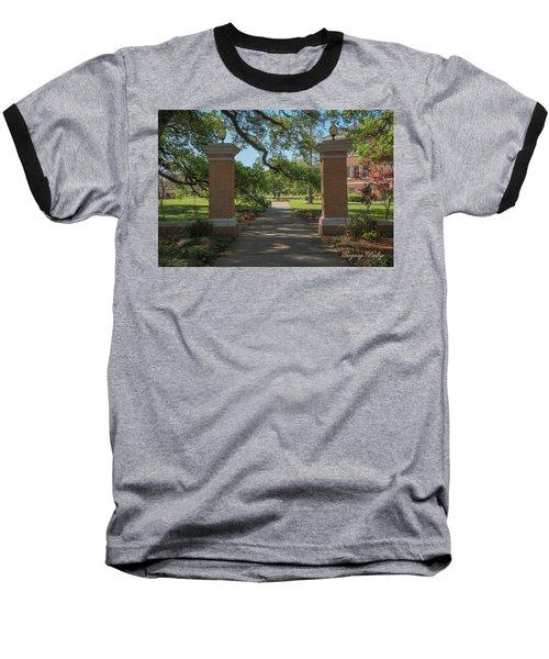 University And Johnston Entrance Baseball T-Shirt by Gregory Daley  PPSA