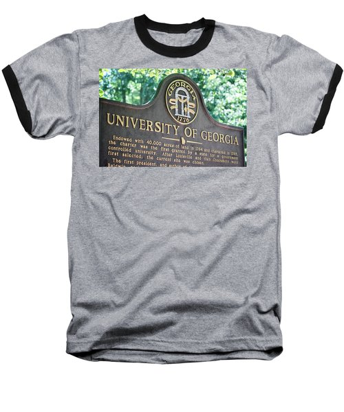 Baseball T-Shirt featuring the photograph University Of Georgia Sign by Parker Cunningham