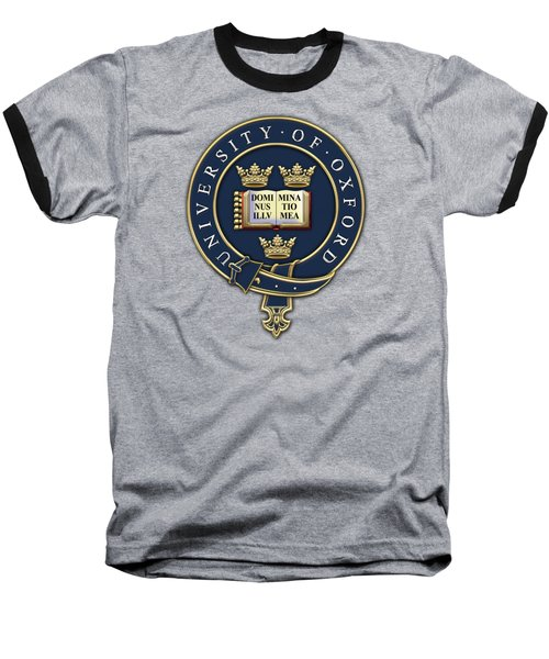 University Of Oxford Seal - Coat Of Arms Over Colours Baseball T-Shirt by Serge Averbukh