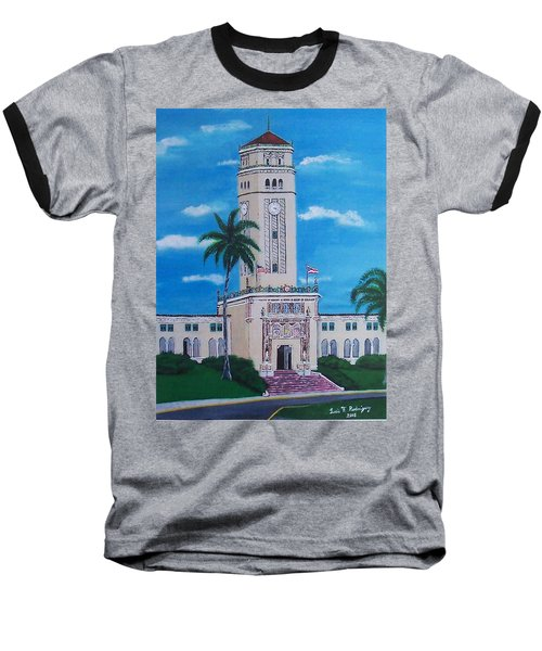 University Of Puerto Rico Tower Baseball T-Shirt by Luis F Rodriguez