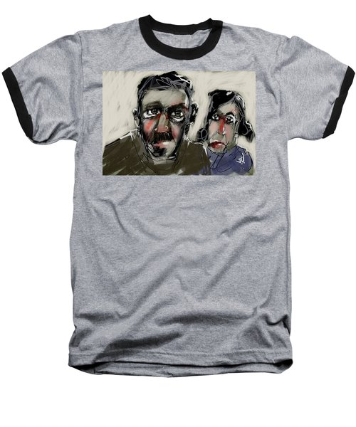 Baseball T-Shirt featuring the painting Untitled 21nov2016 by Jim Vance