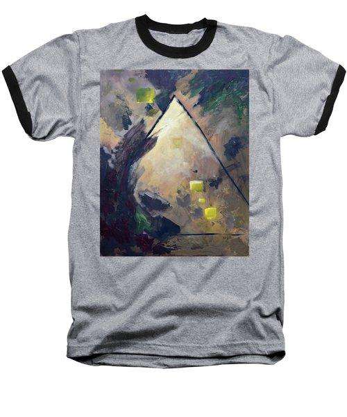 Untitled Abstract 730-17 Baseball T-Shirt