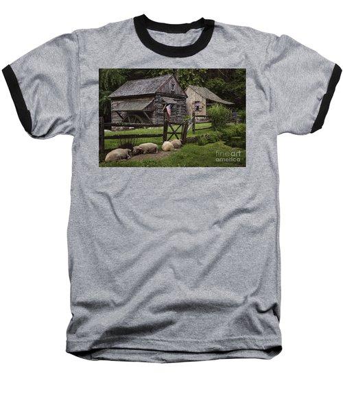 Untitled Cuttalossa Iv Baseball T-Shirt by Debra Fedchin