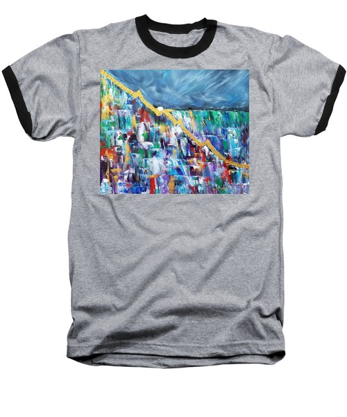 Baseball T-Shirt featuring the painting Untitled by Judith Rhue