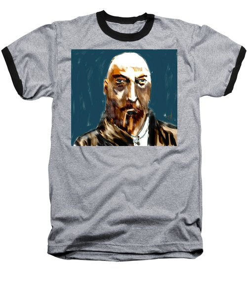Baseball T-Shirt featuring the painting Ivan by Jim Vance