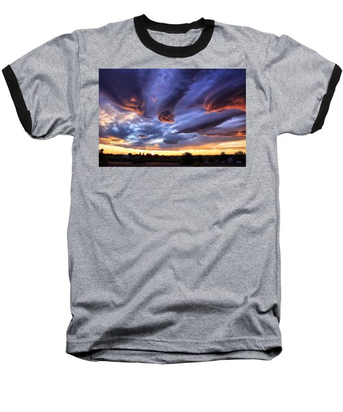 Alien Cloud Formations Baseball T-Shirt by Lynn Hopwood