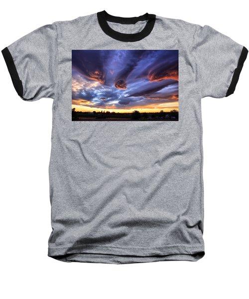 Alien Cloud Formations Baseball T-Shirt