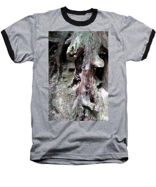 Unusual Tree Root Baseball T-Shirt