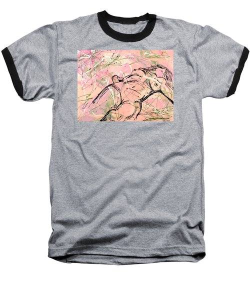Unwinding Woman  Baseball T-Shirt