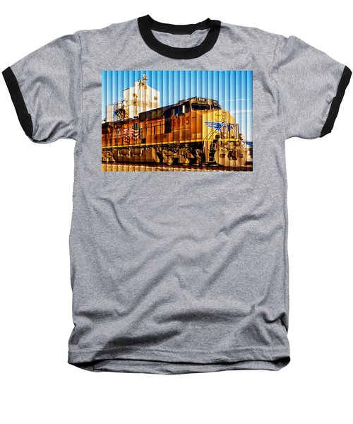 Up 5915 At Track Speed Baseball T-Shirt by Bill Kesler