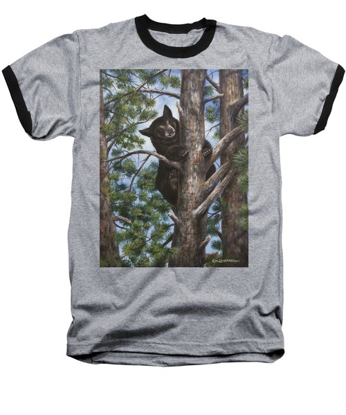 Baseball T-Shirt featuring the painting Up A Tree by Kim Lockman