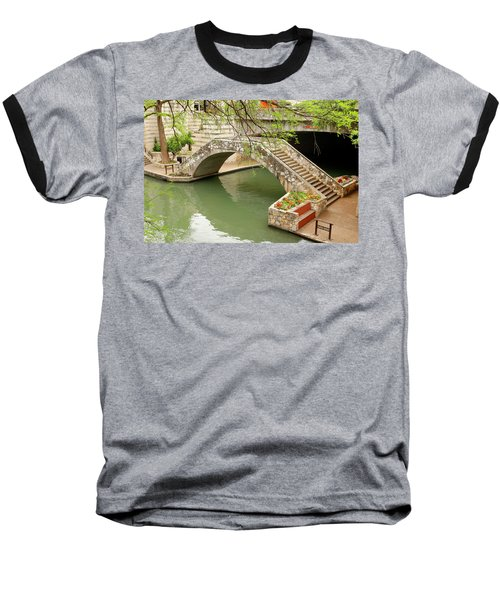 Baseball T-Shirt featuring the photograph Up And Over - San Antonio River Walk by Art Block Collections