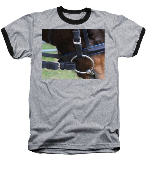 Baseball T-Shirt featuring the painting Up Close Bit by Roena King