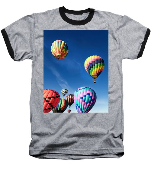 Up In A Hot Air Balloon 2 Baseball T-Shirt