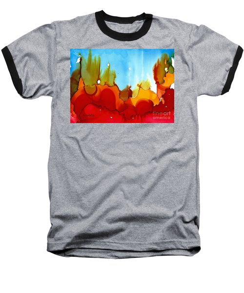 Up In Flames Baseball T-Shirt