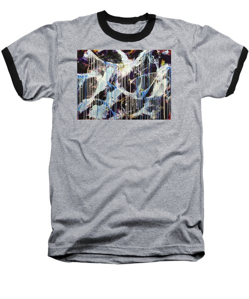 Up In The Air Baseball T-Shirt by Sheila Mcdonald