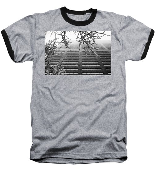 Up In The Snow Baseball T-Shirt