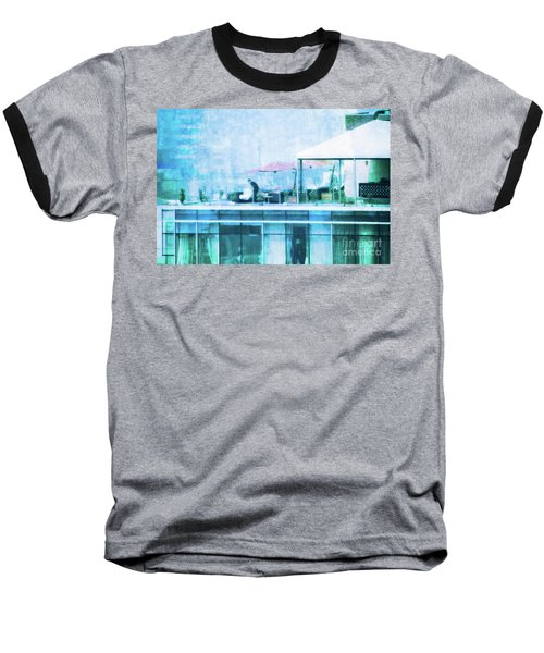 Baseball T-Shirt featuring the digital art Up On The Roof - II by Mary Machare