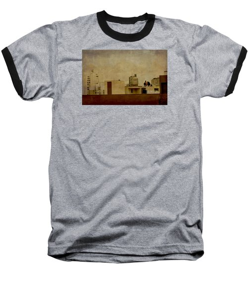 Up On The Roof Baseball T-Shirt