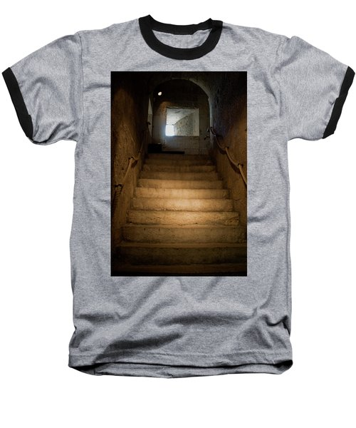 Up The Ancient Stairs Baseball T-Shirt