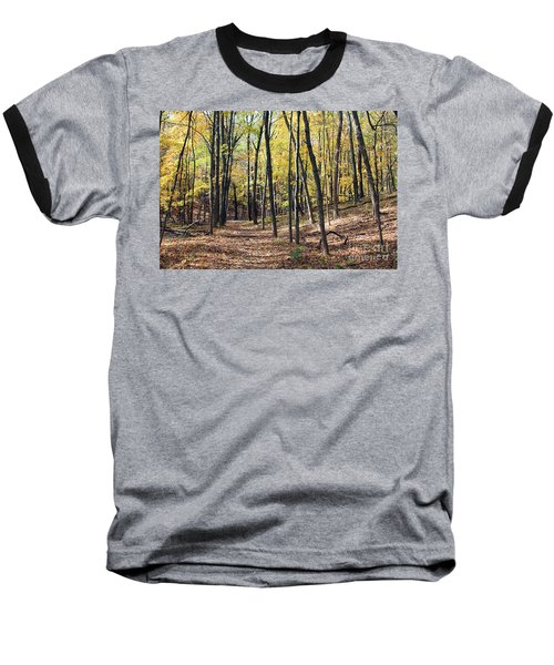 Up The Woodland Trail Baseball T-Shirt