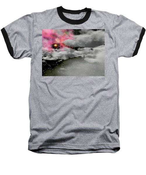 Up Through The Clouds Baseball T-Shirt by Michele Wilson