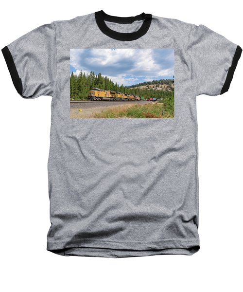 Baseball T-Shirt featuring the photograph Up2650 Westbound From Donner Pass by Jim Thompson