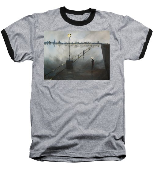 Baseball T-Shirt featuring the painting Upon The Boardwalk by Raymond Doward