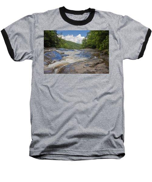 Upper Creek Waterfalls Baseball T-Shirt