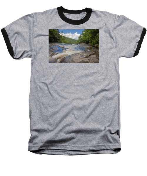 Upper Creek Waterfalls Baseball T-Shirt