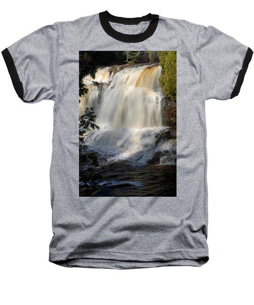 Upper Falls Gooseberry River 2 Baseball T-Shirt