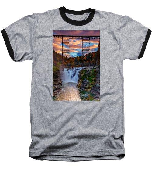 Upper Falls Letchworth State Park Baseball T-Shirt